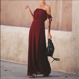 Manchester off the shoulder maxi dress